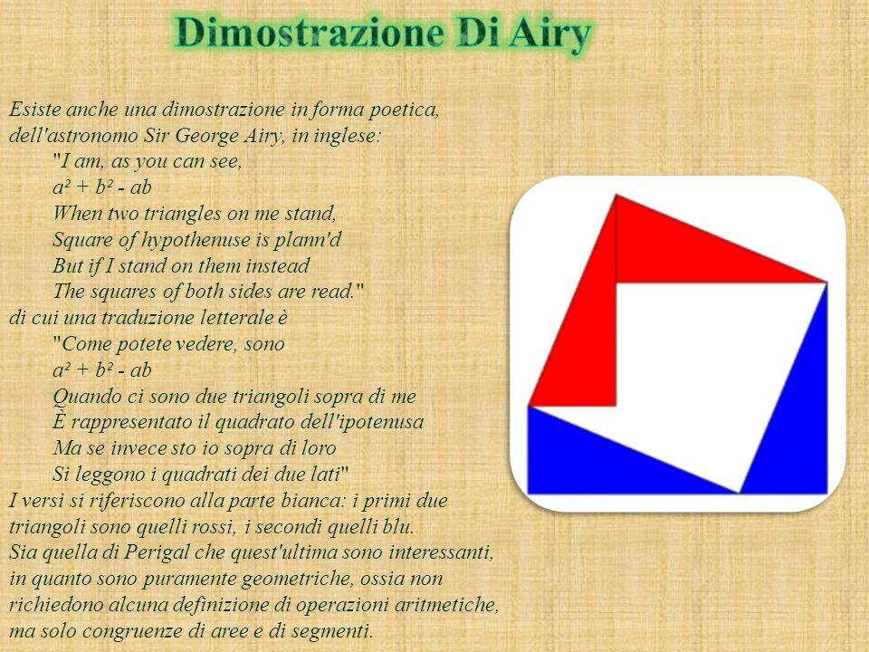 Dimostrazione Di Airy Esiste anche una dimostrazione in forma poetica, dell astronomo Sir George Airy, in inglese: