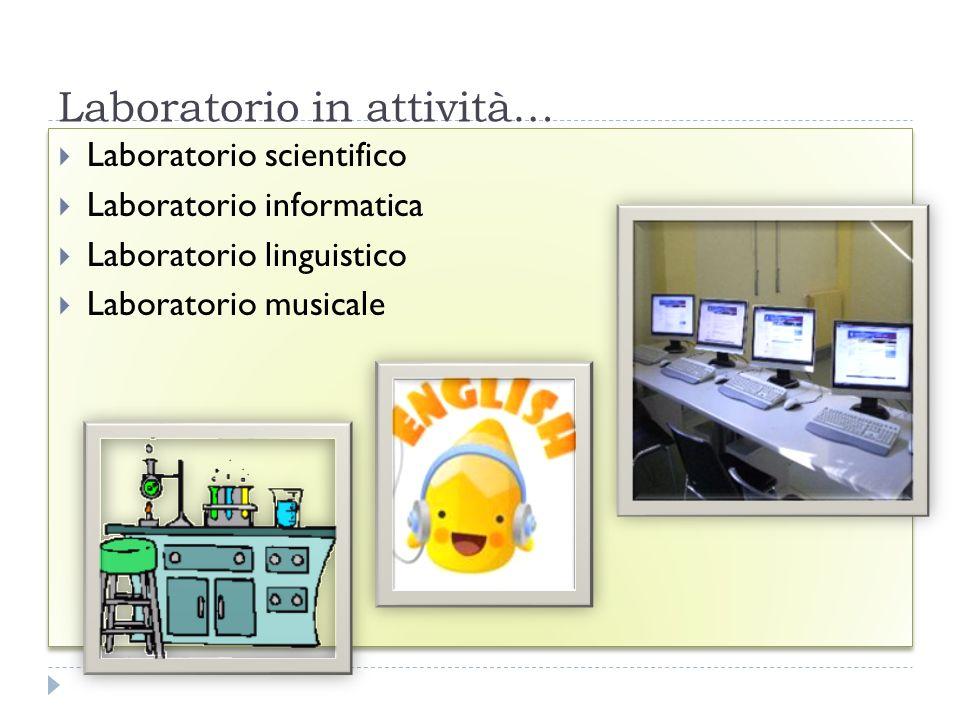 Laboratorio in attività… FESR06_POR_CAMPANIA-2011-291