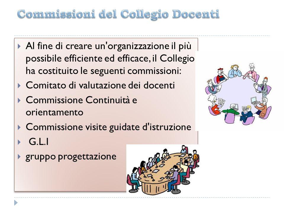 Commissioni del Collegio Docenti