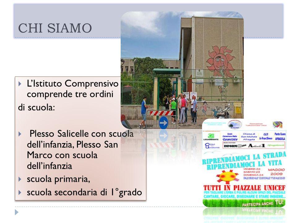 CHI SIAMO L'Istituto Comprensivo comprende tre ordini di scuola: