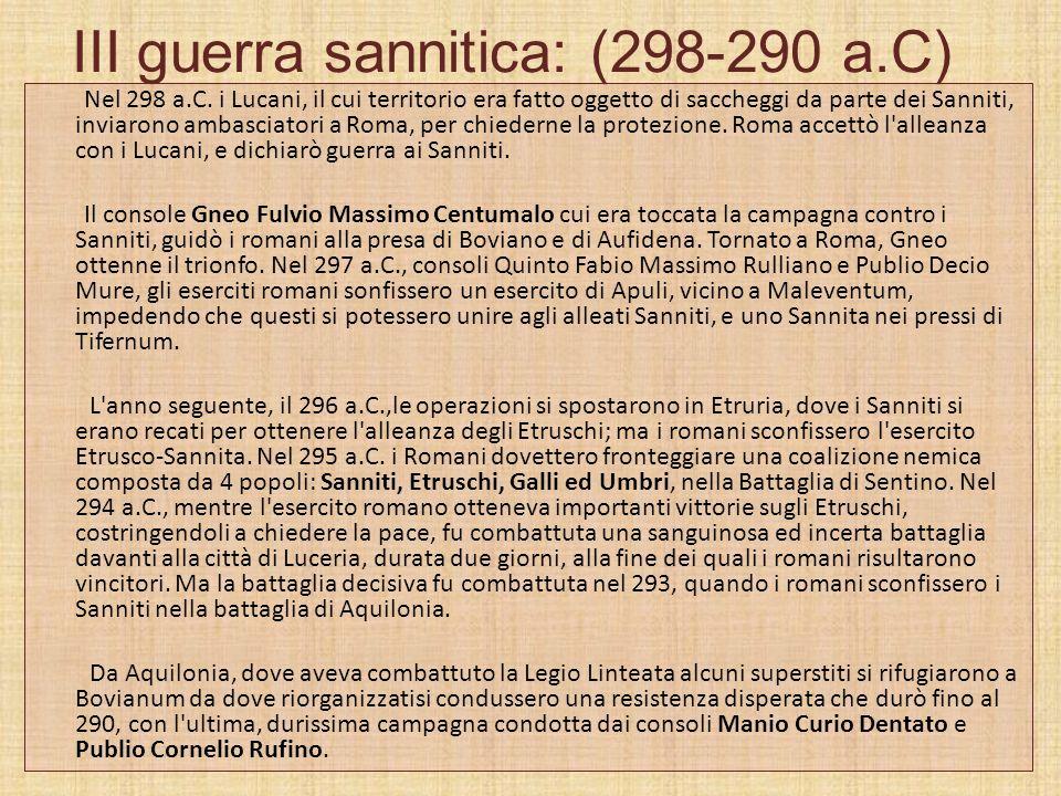 III guerra sannitica: (298-290 a.C)