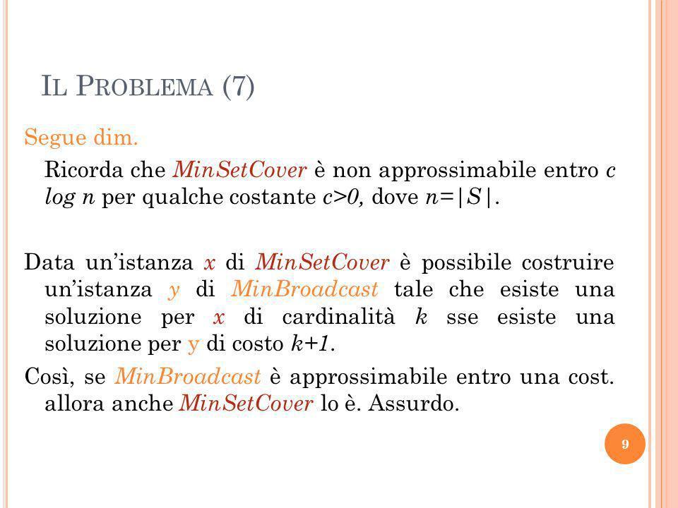 Il Problema (7)
