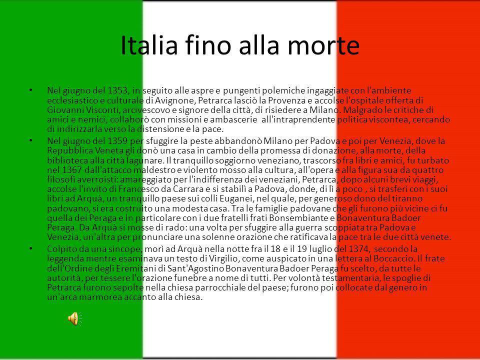 Italia fino alla morte