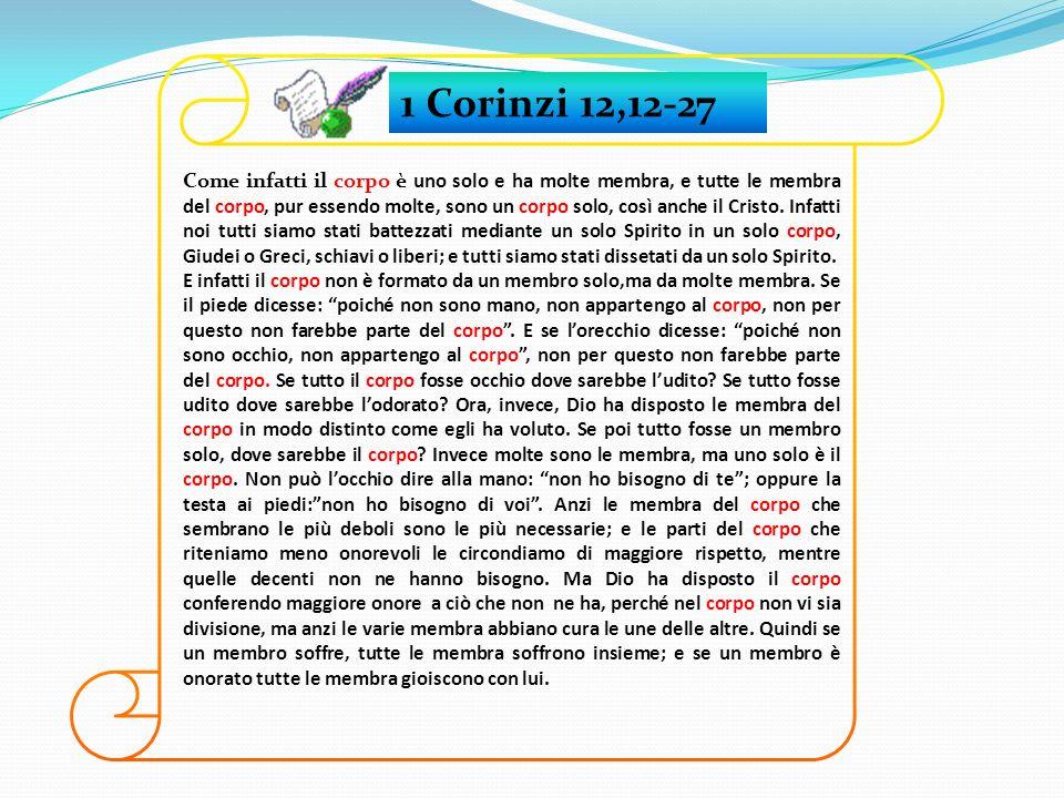 1 Corinzi 12,12-27
