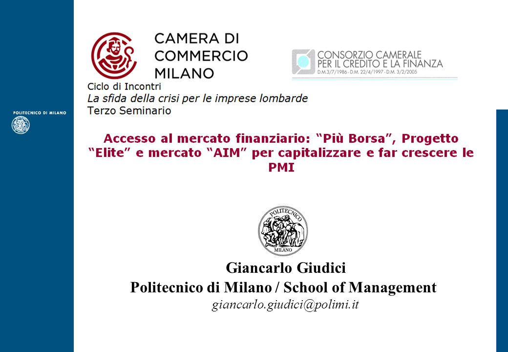 Politecnico di Milano / School of Management