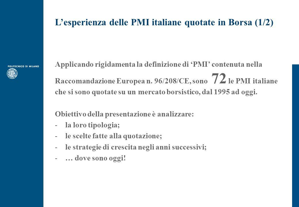 L'esperienza delle PMI italiane quotate in Borsa (1/2)