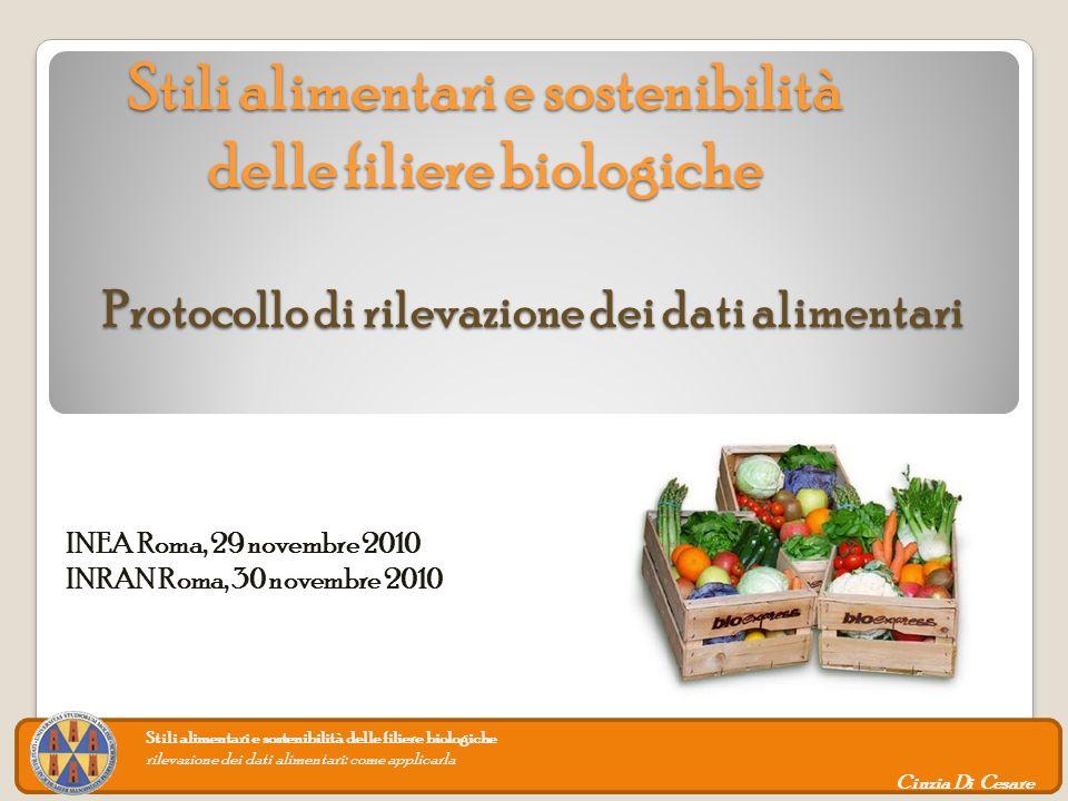 Stili alimentari e sostenibilità delle filiere biologiche