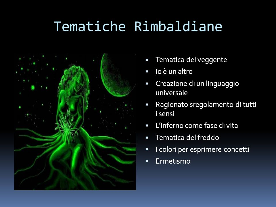 Tematiche Rimbaldiane