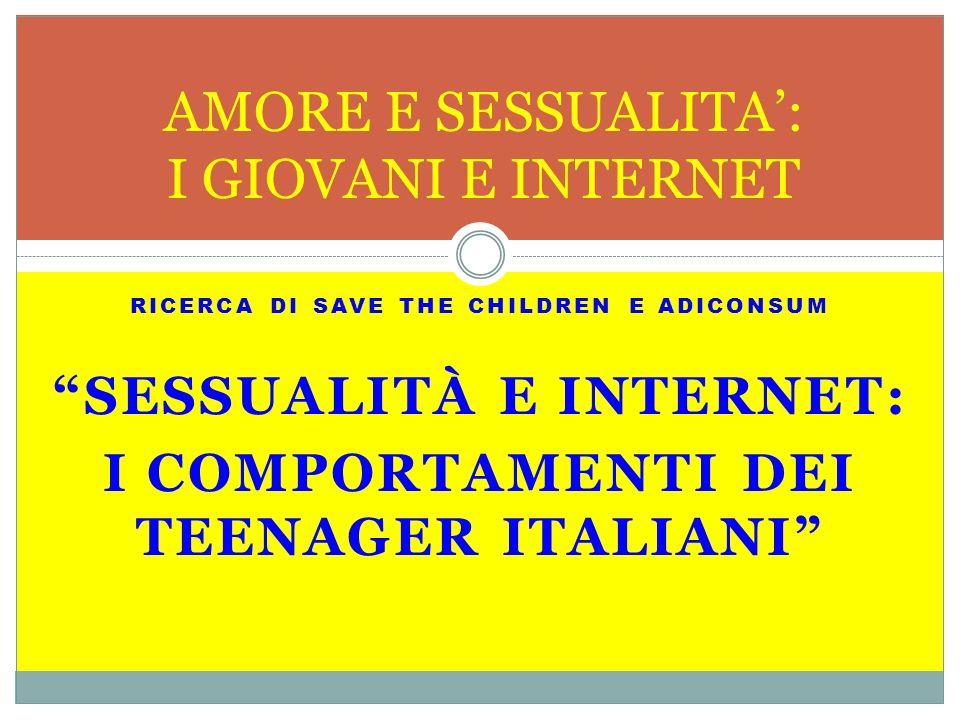 AMORE E SESSUALITA': I GIOVANI E INTERNET