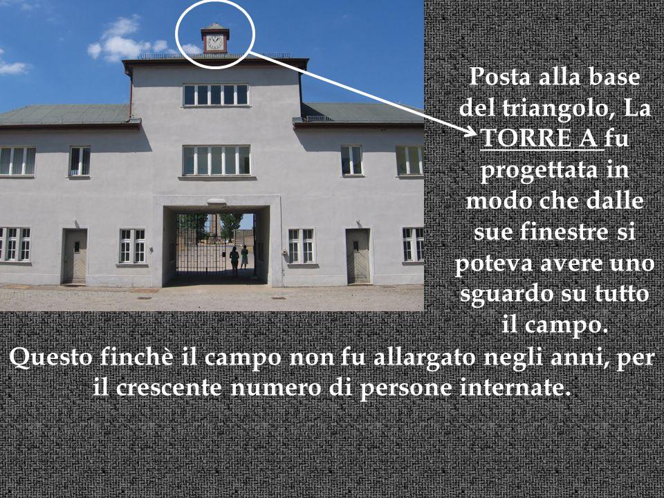 Posta alla base del triangolo, La TORRE A fu progettata in modo che dalle sue finestre si poteva avere uno sguardo su tutto il campo.