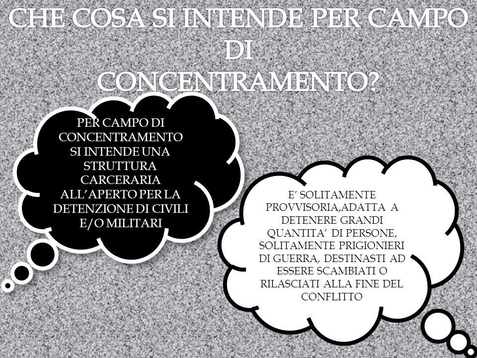 CHE COSA SI INTENDE PER CAMPO DI CONCENTRAMENTO