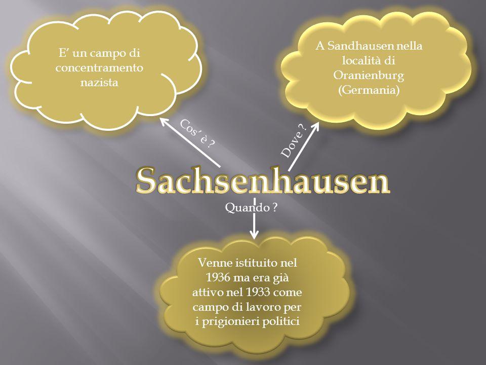 Sachsenhausen A Sandhausen nella località di Oranienburg (Germania)