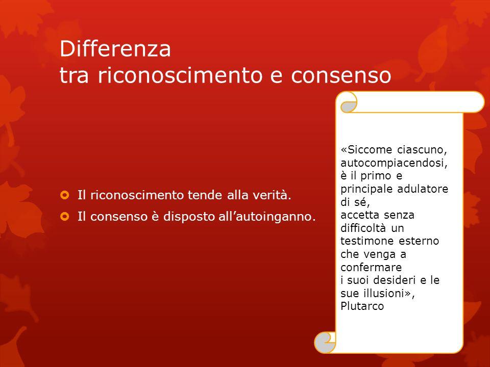 Differenza tra riconoscimento e consenso
