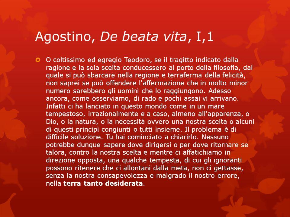 Agostino, De beata vita, I,1