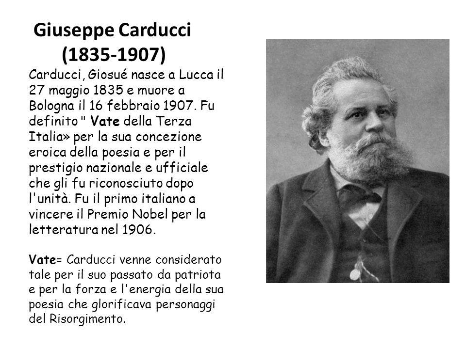 Giuseppe Carducci (1835-1907)