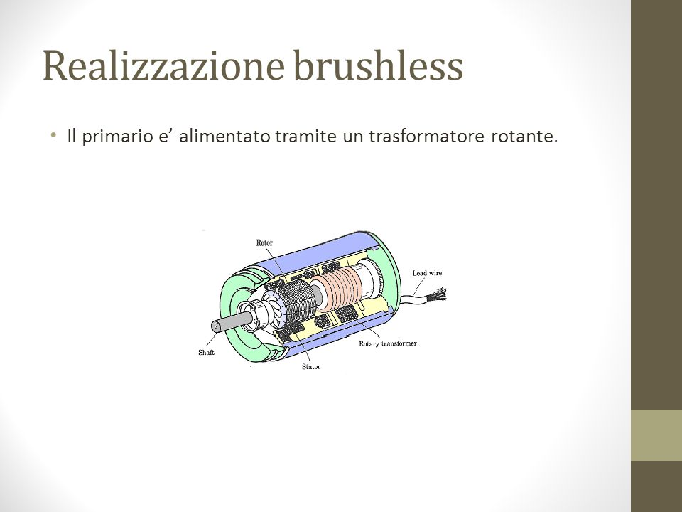 Realizzazione brushless
