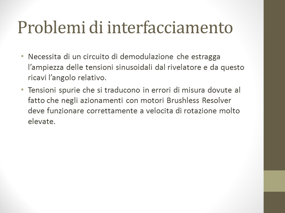 Problemi di interfacciamento