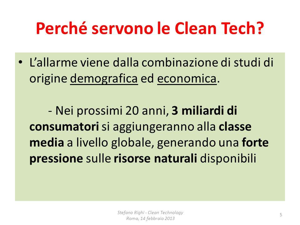 Perché servono le Clean Tech