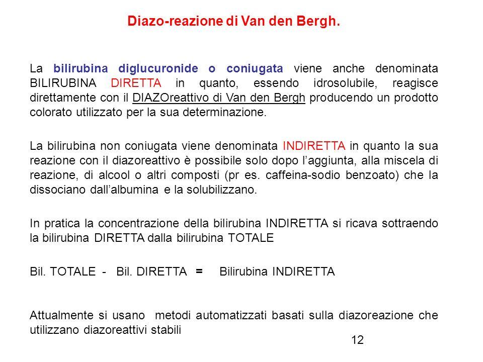 Diazo-reazione di Van den Bergh.
