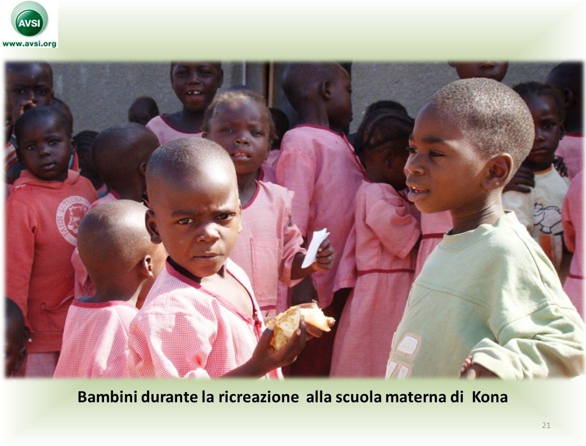 Bambini durante la ricreazione alla scuola materna di Kona