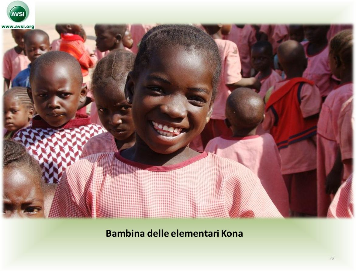 Bambina delle elementari Kona