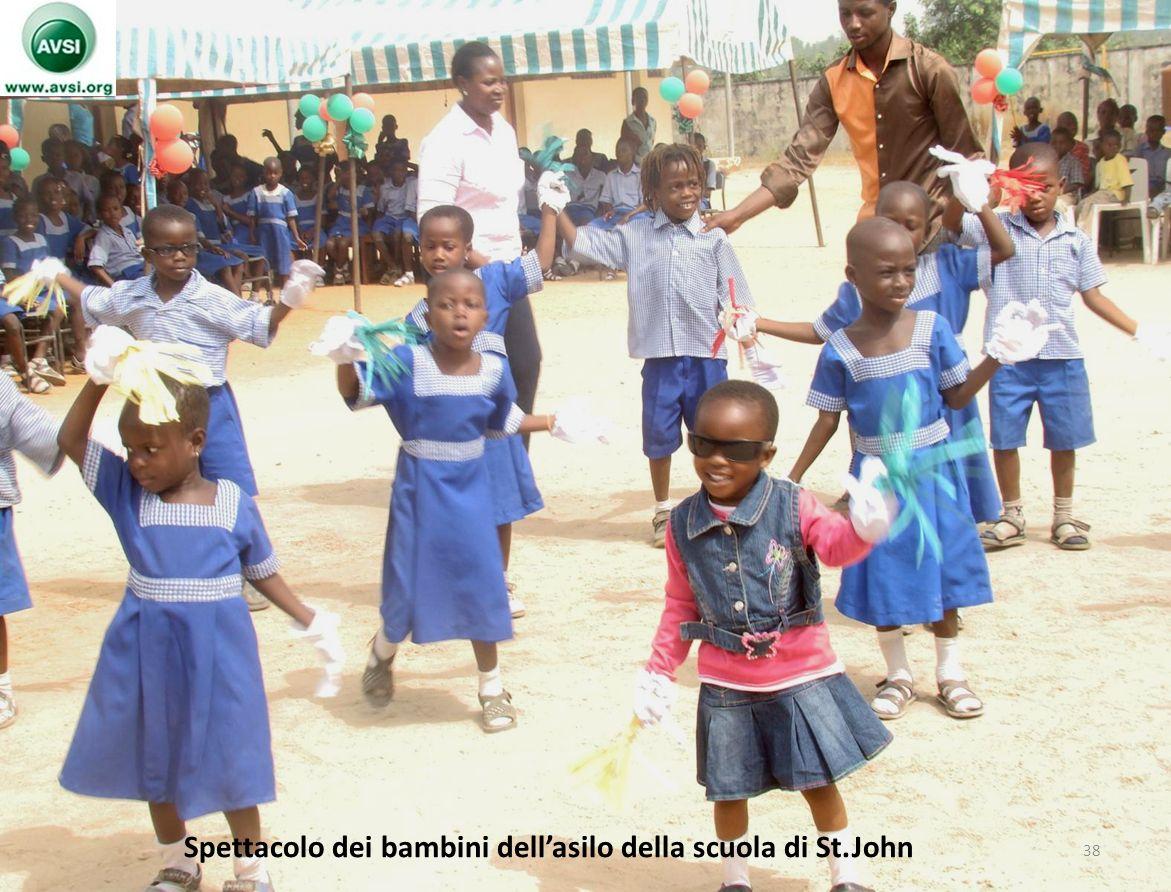 Spettacolo dei bambini dell'asilo della scuola di St.John