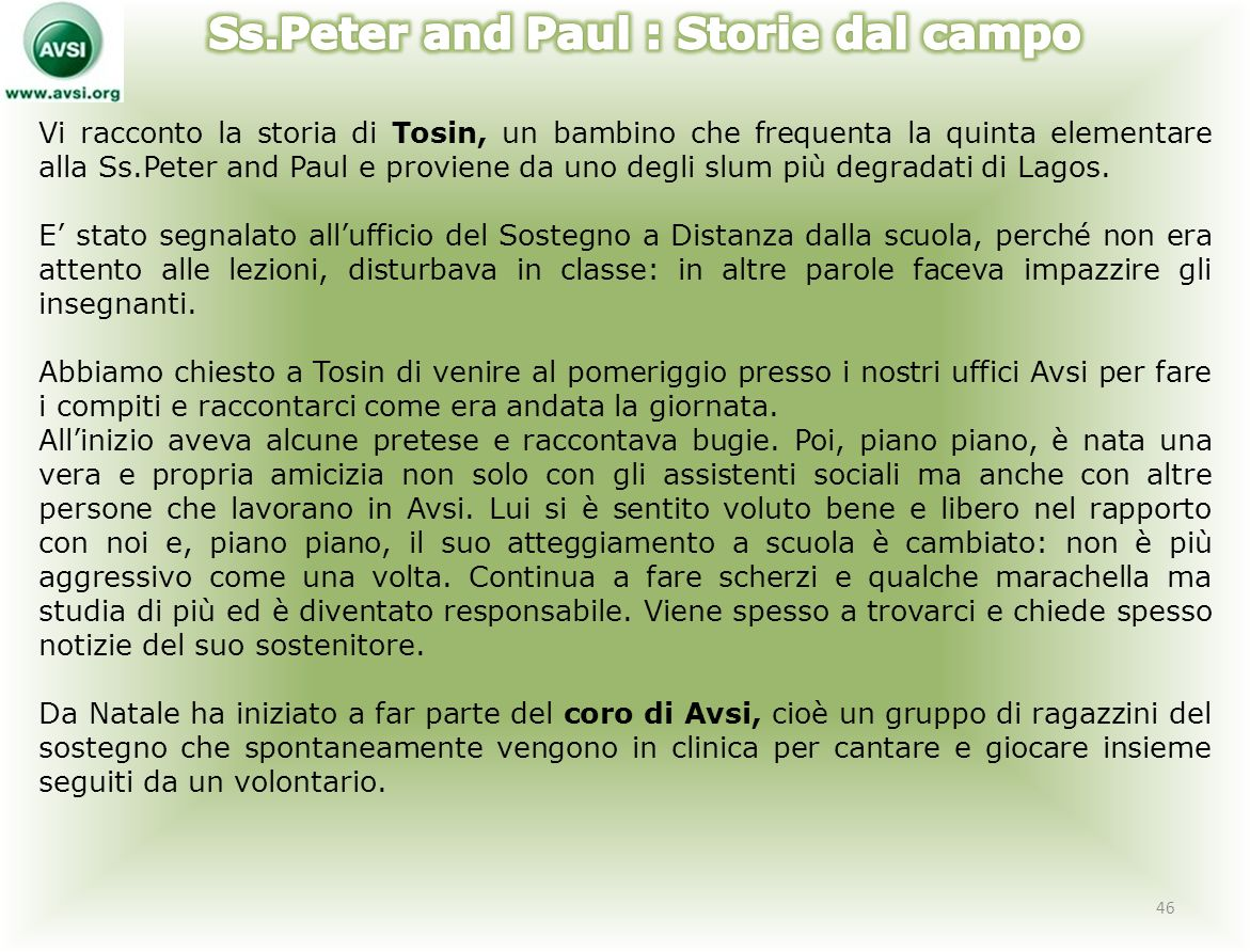 Ss.Peter and Paul : Storie dal campo