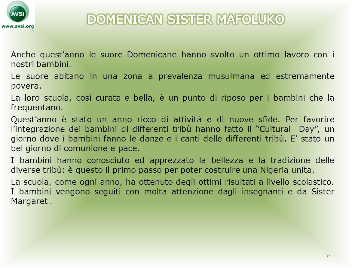 DOMENICAN SISTER MAFOLUKO