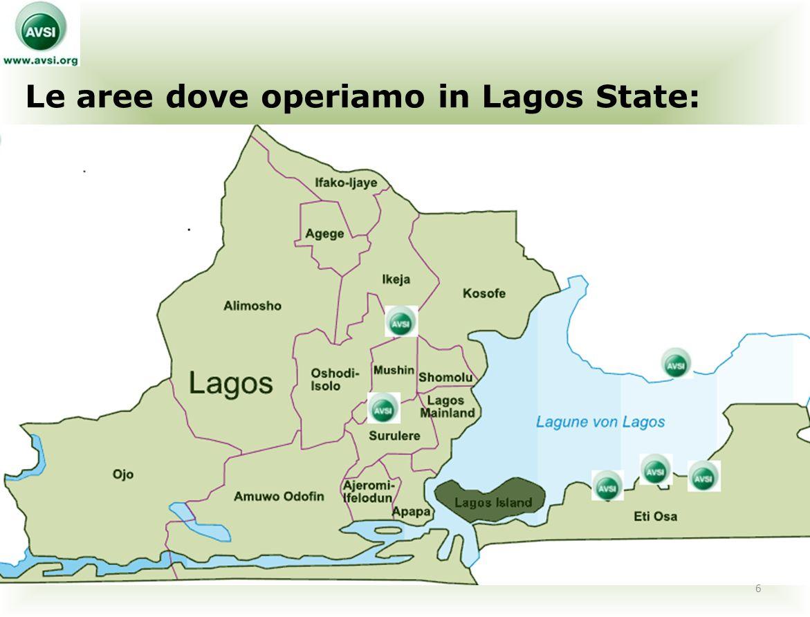 Le aree dove operiamo in Lagos State: