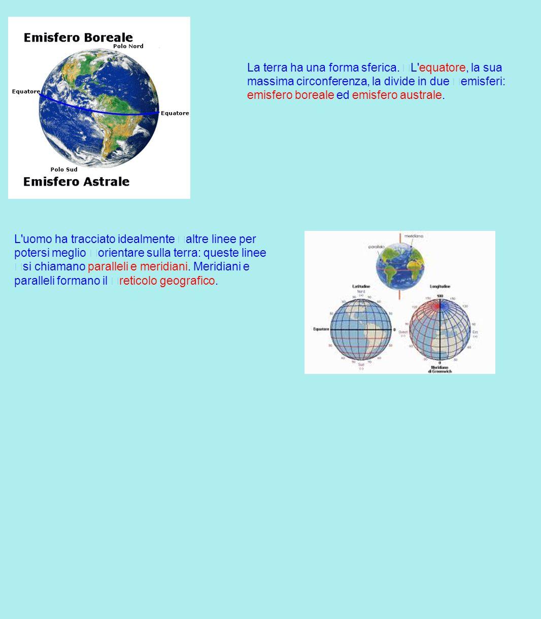La terra ha una forma sferica