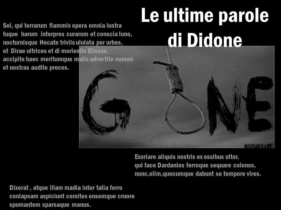 Le ultime parole di Didone
