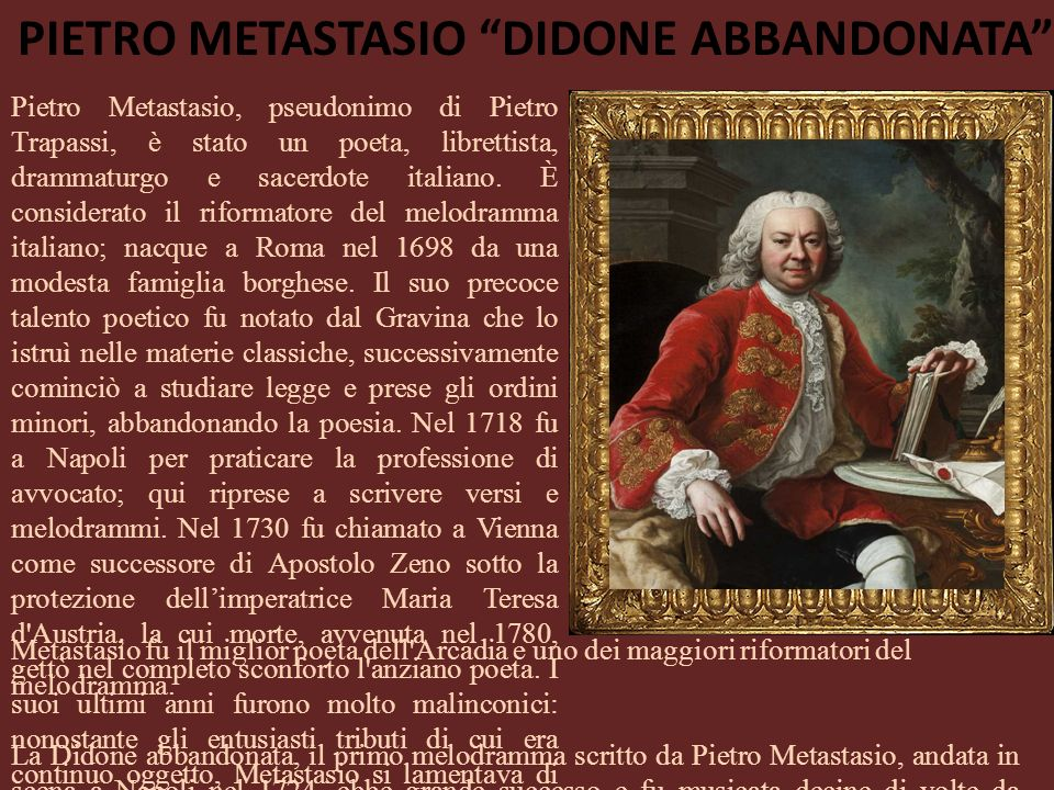 Pietro Metastasio Didone abbandonata