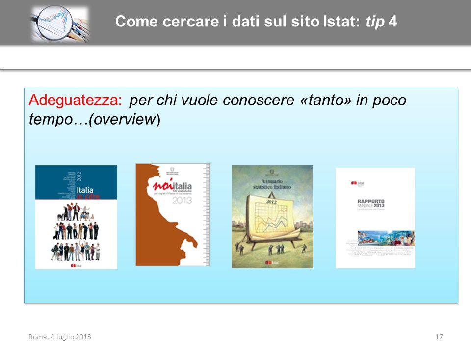 Come cercare i dati sul sito Istat: tip 4