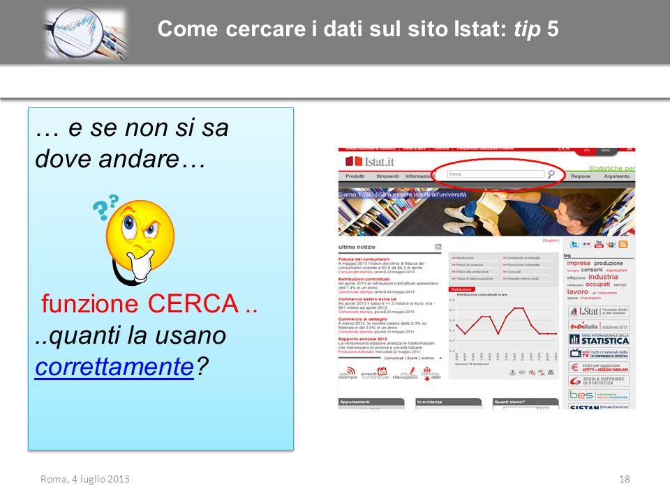 Come cercare i dati sul sito Istat: tip 5