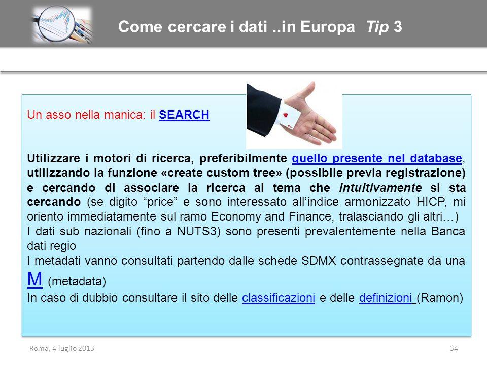 Come cercare i dati ..in Europa Tip 3