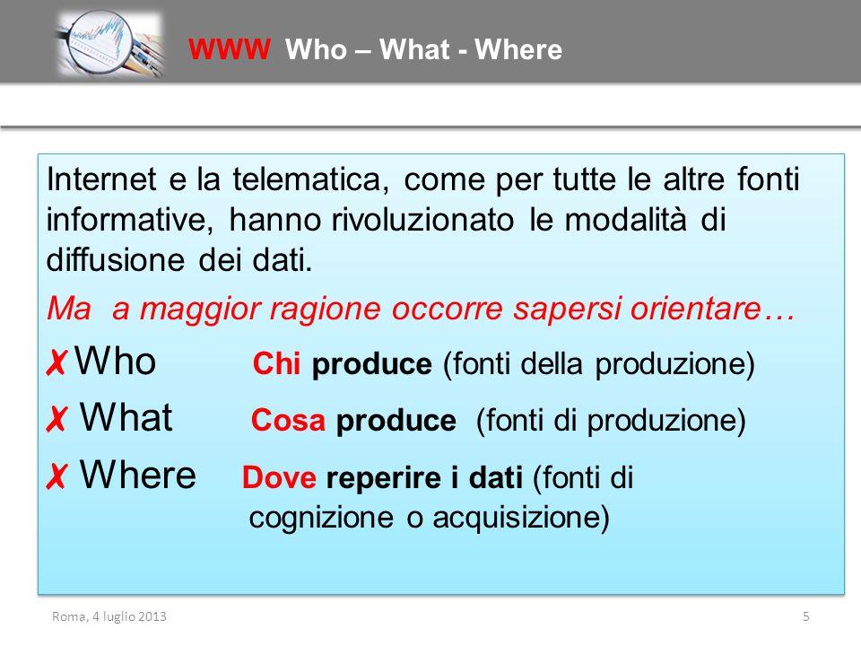 ✗ Who Chi produce (fonti della produzione)