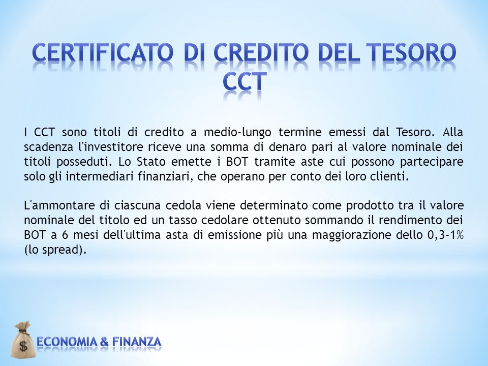 certificato di credito del tesoro