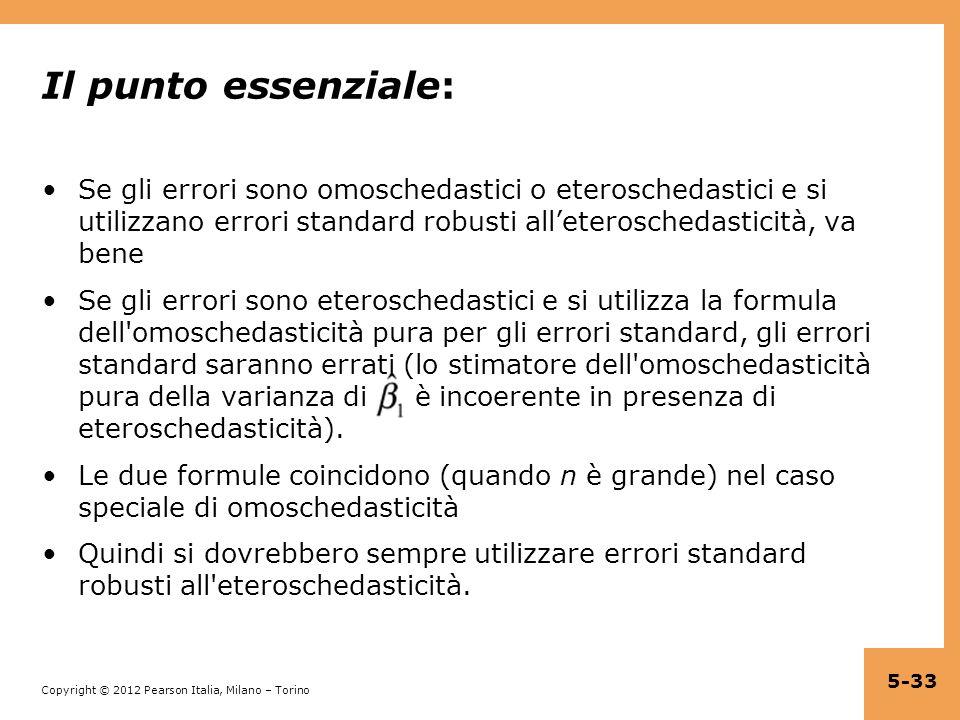 Il punto essenziale: Se gli errori sono omoschedastici o eteroschedastici e si utilizzano errori standard robusti all'eteroschedasticità, va bene.