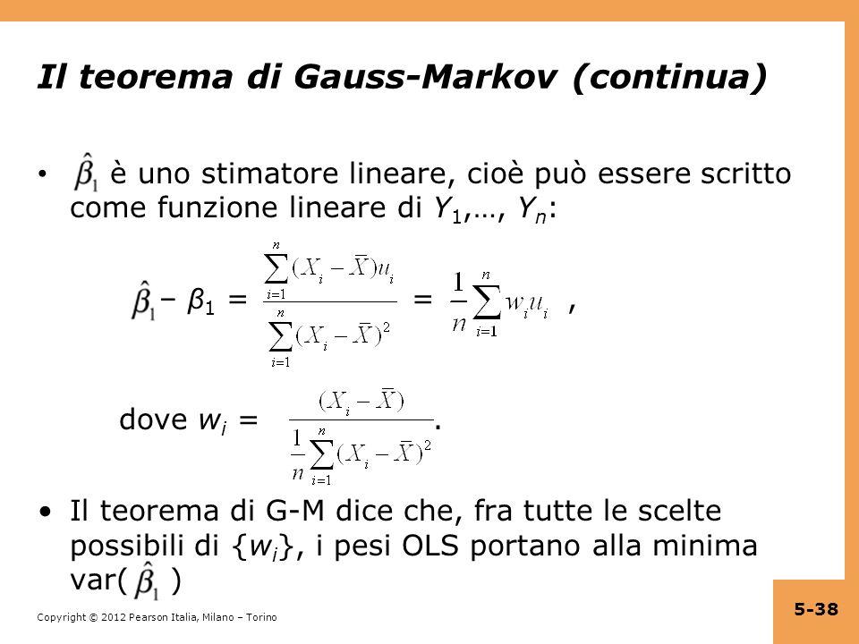 Il teorema di Gauss-Markov (continua)