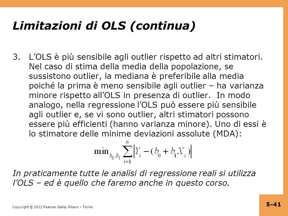 Limitazioni di OLS (continua)