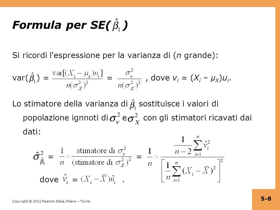 Formula per SE( )