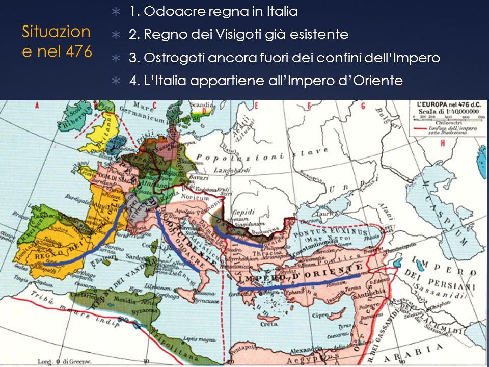 Situazione nel 476 1. Odoacre regna in Italia