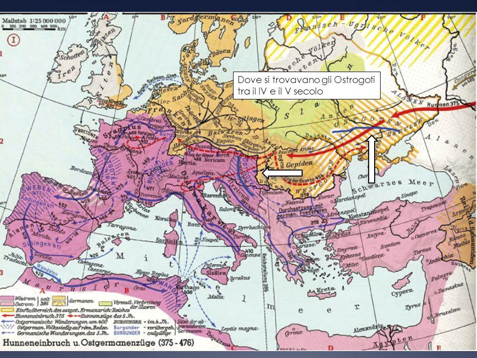 Dove si trovavano gli Ostrogoti tra il IV e il V secolo