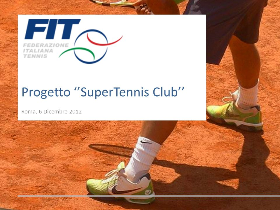 Progetto ''SuperTennis Club''