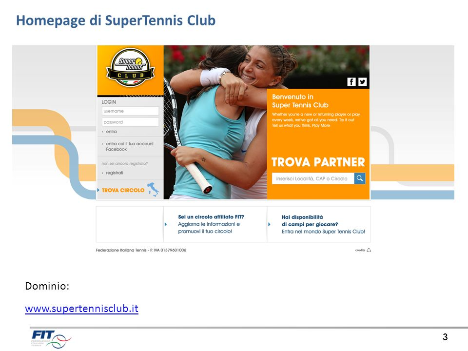 Homepage di SuperTennis Club