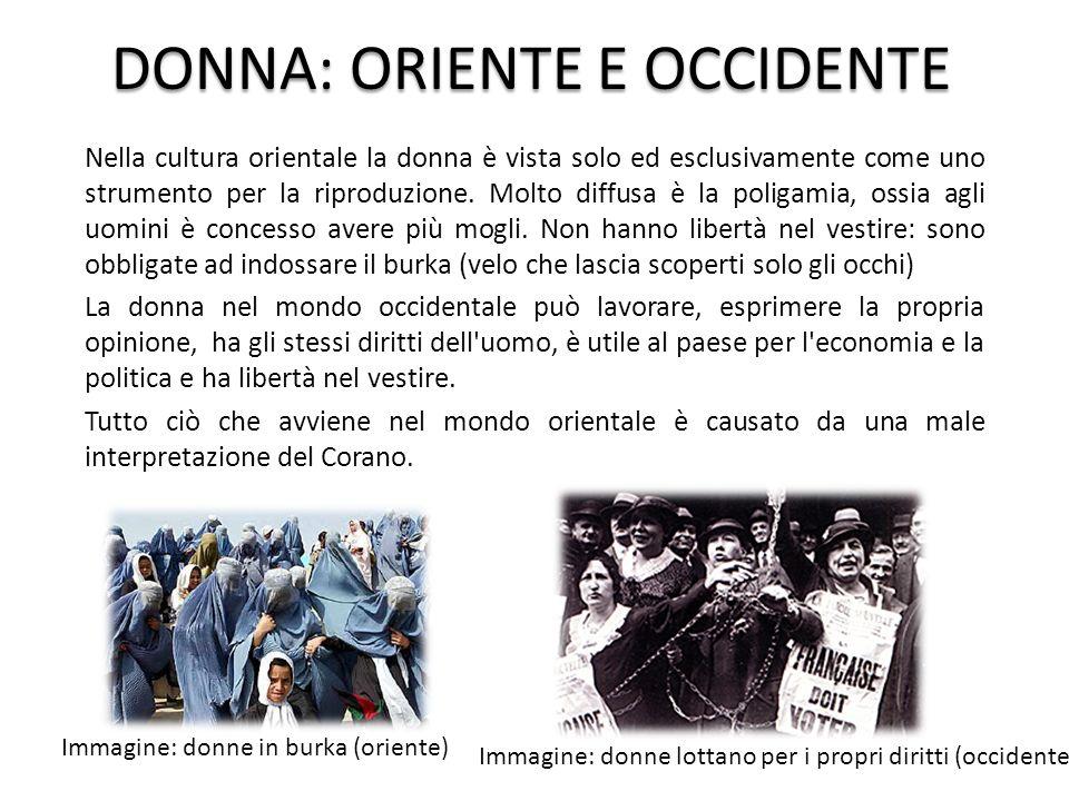 DONNA: ORIENTE E OCCIDENTE