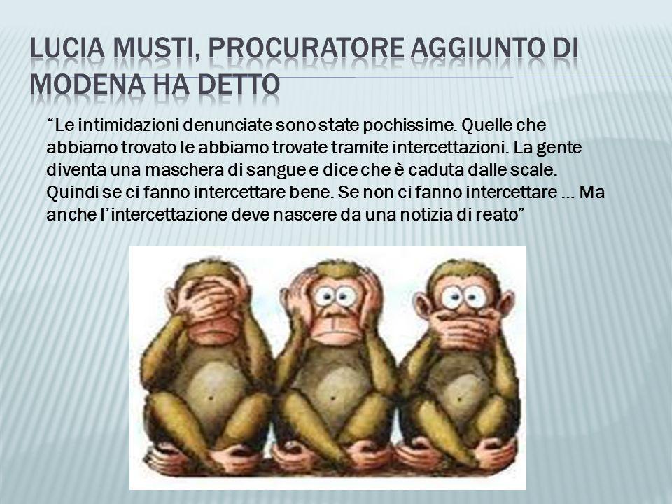 Lucia Musti, procuratore aggiunto di modena ha detto