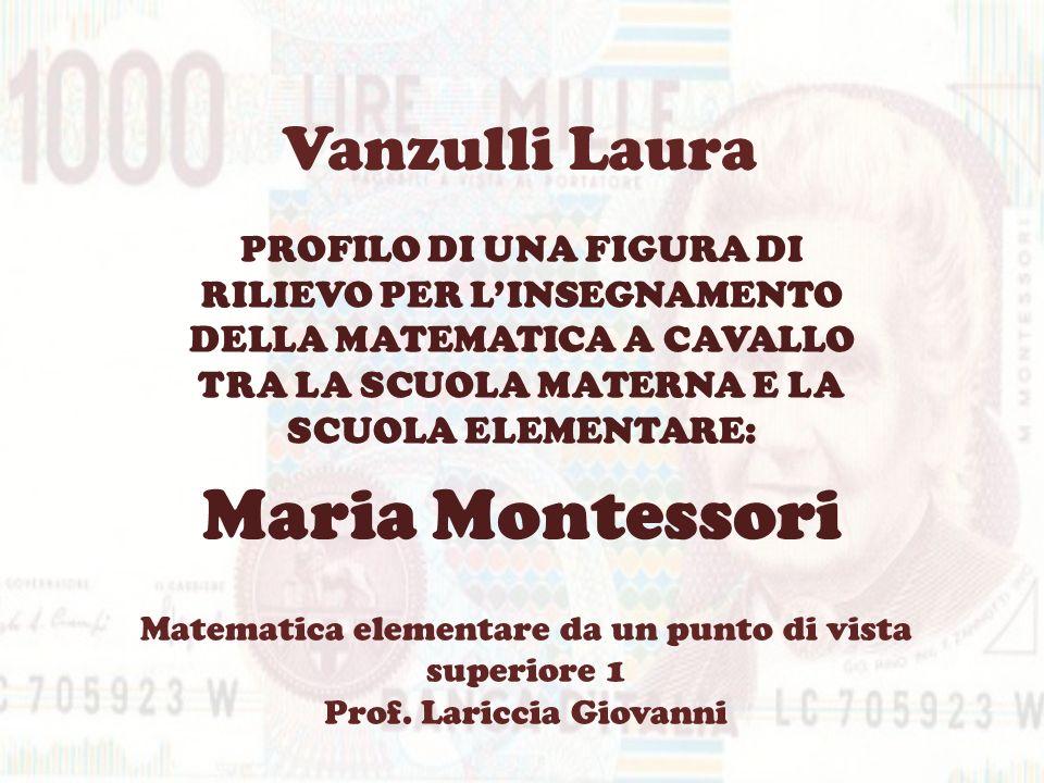 Maria Montessori Vanzulli Laura