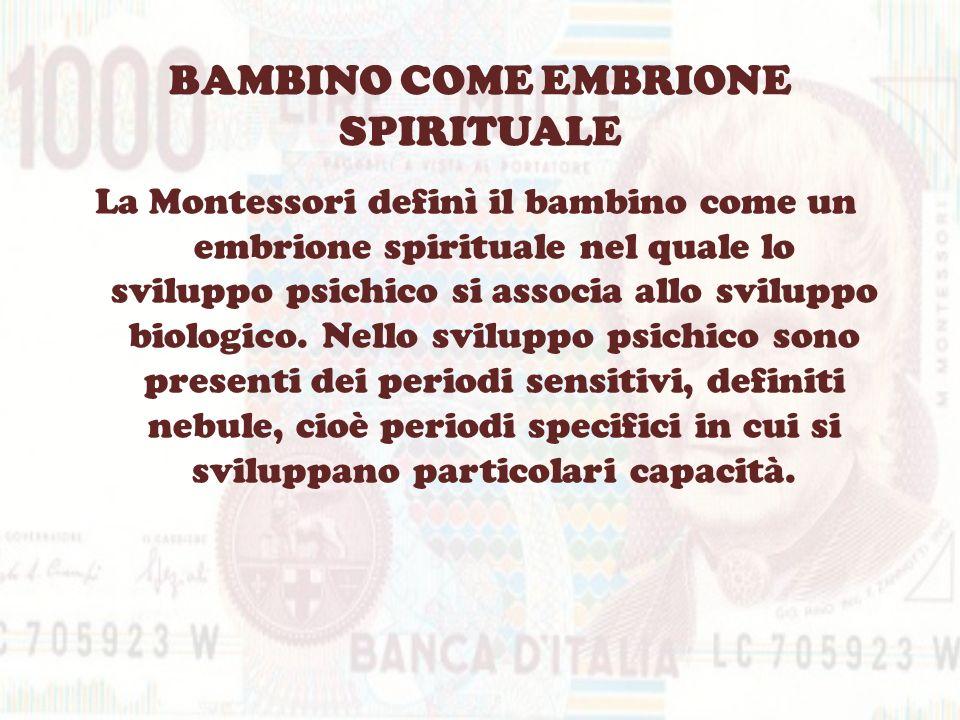 BAMBINO COME EMBRIONE SPIRITUALE