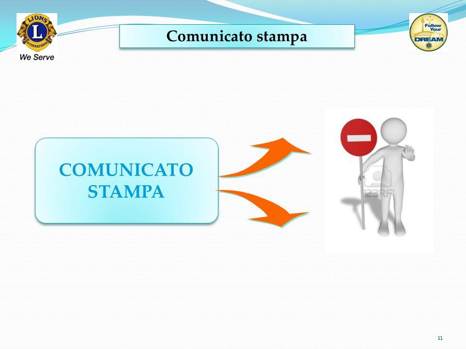Comunicato stampa COMUNICATO STAMPA
